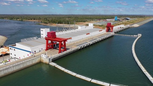 Photo taken on Dec. 16, 2018 shows the Chinese-built Lower Sesan II hydroelectric power station in Stung Treng Province, Cambodia. (Xinhua)